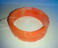 Bright marbled plastic bangle (Code 2663)
